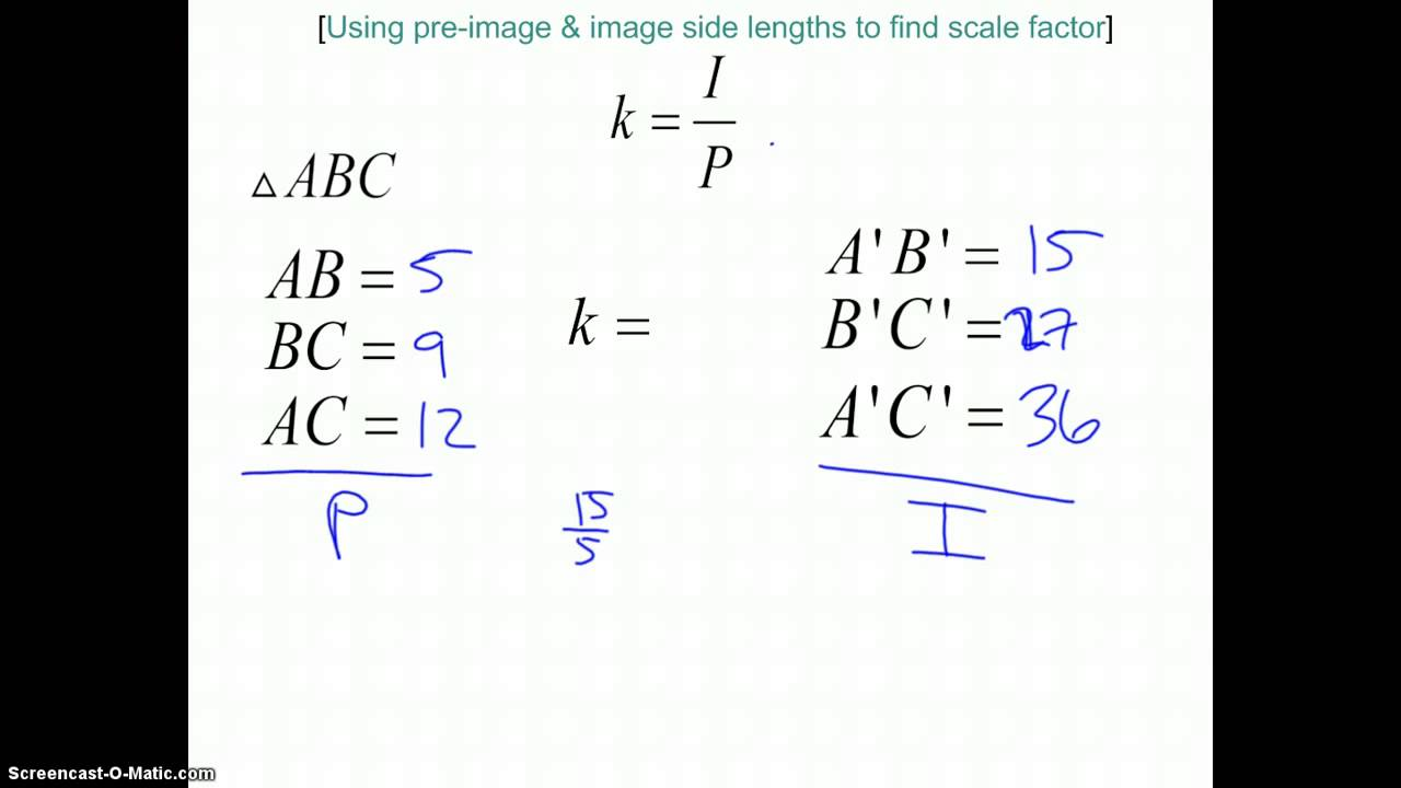 Find the scale factor of a triangle dilation youtube find the scale factor of a triangle dilation ccuart Images