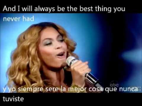 Beyonce, Best thing I never had- español e ingles