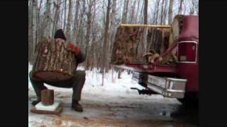 Makin Firewood Large Firewood Load In Chevy Truck