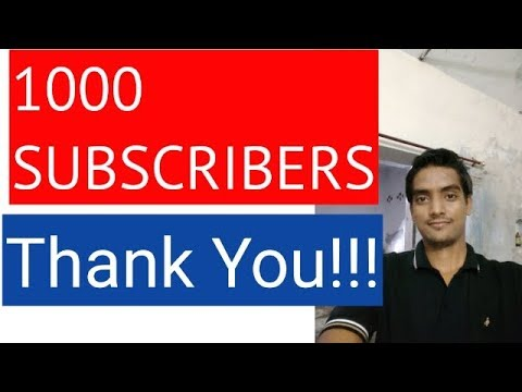 1000 subscribers special thank you all 4of4 9