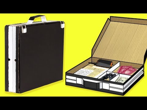 craft-ideas-with-pizza-boxes---briefcase-|-diy-on-box-yourself