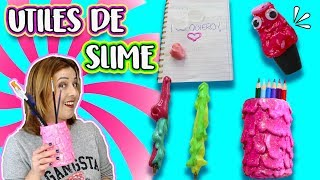 Decora tus Utiles Escolares de Slime !! DIY Slime School Supplies !