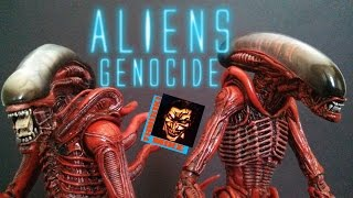 neca aliens genocide drone runner 2 pack action figure review
