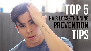 TOP 5 TIPS FOR HAIR LOSS (MEN