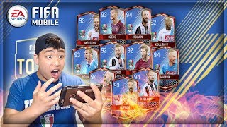 Fifa mobile two tots pulls in one pack!! fire calcio a tots bundle opening!!