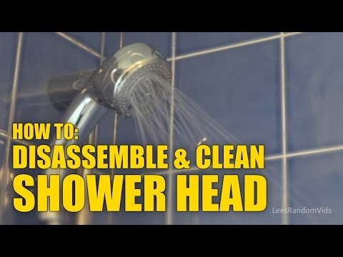 How to Open a Shower Head - How To Disassemble a Shower Head to Clean. [Mira Shower Head]