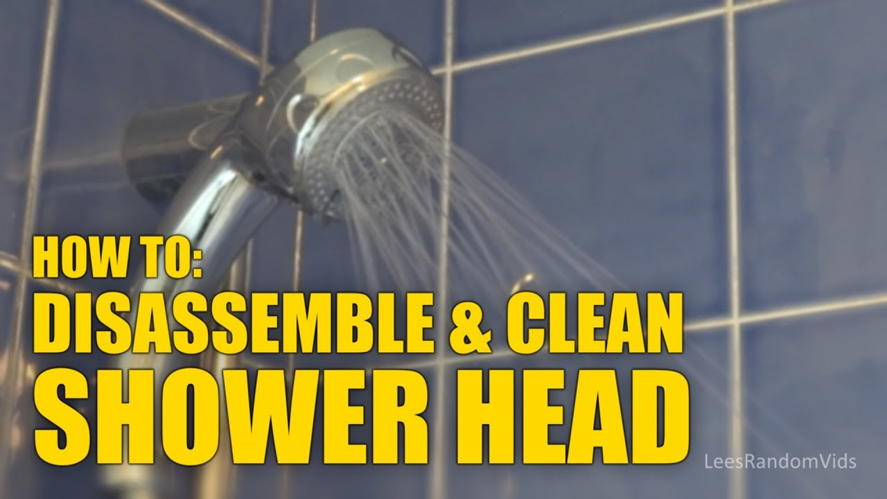 How To Open A Shower Head How To Disassemble A Shower Head To