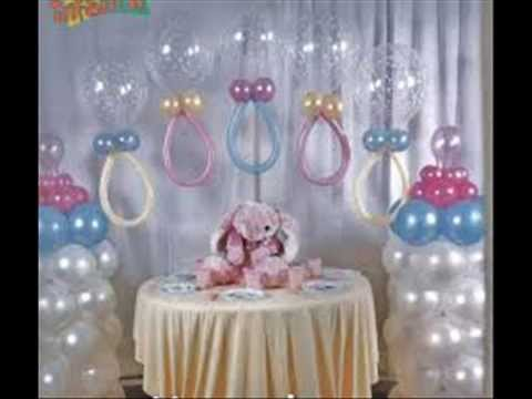 Decoracion con globos para baby shower 1 youtube for Decoracion para minidepartamentos