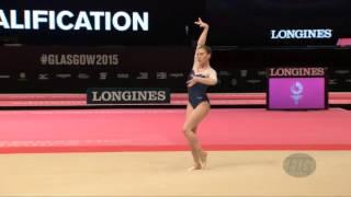 AFANASEVA Kseniia (RUS) - 2015 Artistic Worlds - Qualifications Floor Exercise