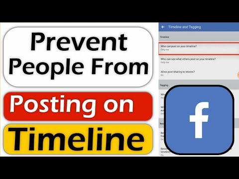 How To Prevent People From Posting On Your Timeline/Wall On Facebook