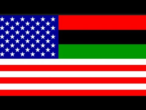 Beautiful African American Flags
