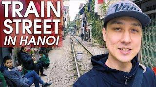 "Walking Tour of ""TRAIN STREET"" in Hanoi | VIETNAM WALK"