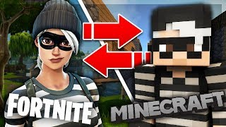 5 Peaux Fortnite dans Minecraft! (Top Minecraft Skins)