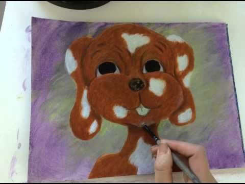 Time Lapse Acrylic Painting of Cartoon Dog