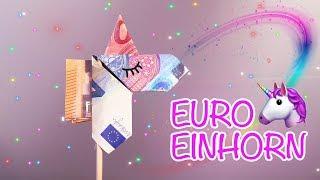 DIY Einhorn Geschenk   Geld Geschenk   Unicorn falten I Money Origami