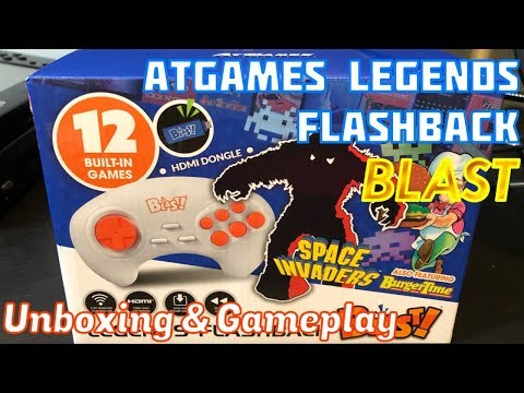 AtGames Atari LEGENDS Flashback BLAST, Unboxing, Gameplay & Review, Space Invaders - Emceemur