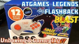 AtGames Atari LEGENDS Flashback BLAST, Unboxing, Gameplay & Review, Space Invaders - Emceemur