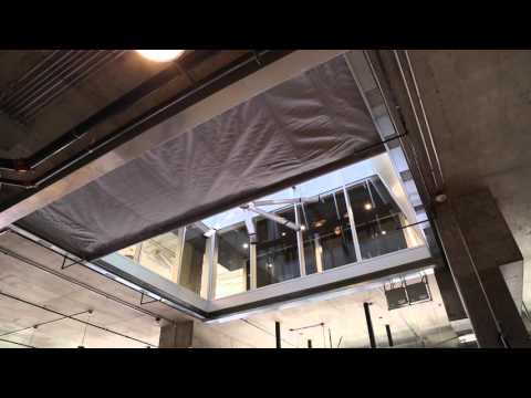 Horizontal Fire Curtain in Seattle WA HD