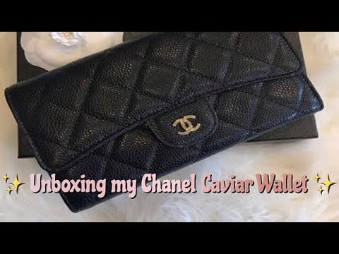 Unboxing My Chanel Caviar Quilted Long Flap Wallet ( Nancy)