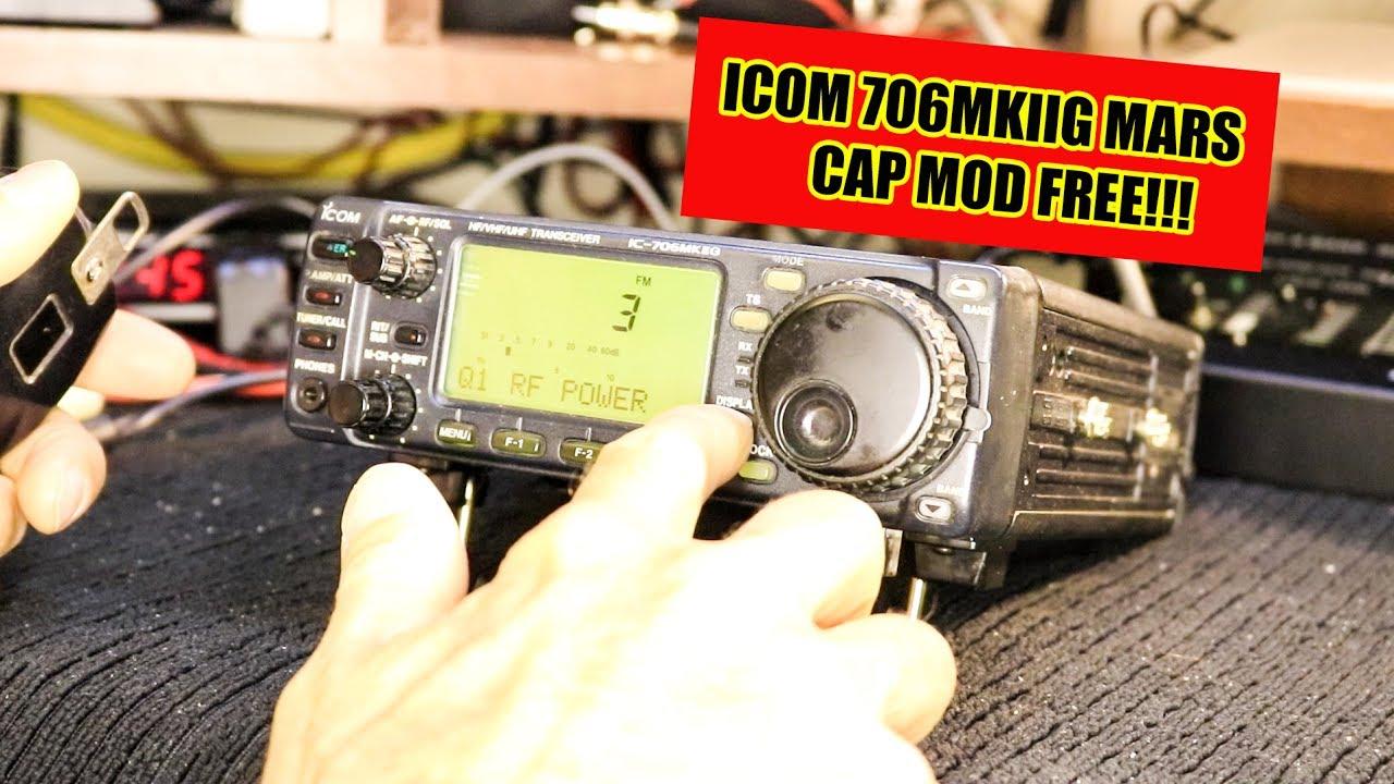 Icom IC-706MIIG Mars/Cap Open TX Modification FREE and Easy!!