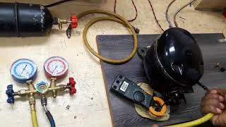 রেফ্রিজারেটরের লিক টেস্ট-ভ্যাকুয়াম এবং গ্যাস চাজিং পদ্ধতি।How to repair a refrigerator. gas charging