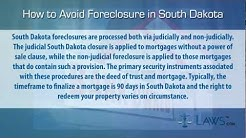 How to stop foreclosure in South Dakota
