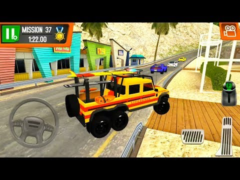 Lifeguard Pickup Truck Simulator - Beach Patrol Driving - Android iOS Gameplay