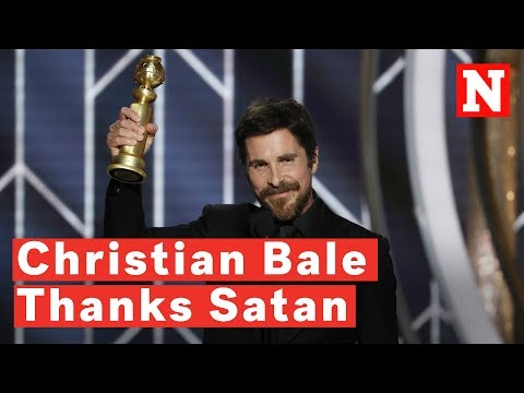 Madison - Christian Bale thanked Satan at the Golden Globes