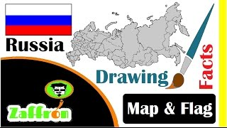 Learn Russia Country Facts, Geography, Map & Flag Drawings | حقائق روسيا | 国の事実と地理 | zaffron