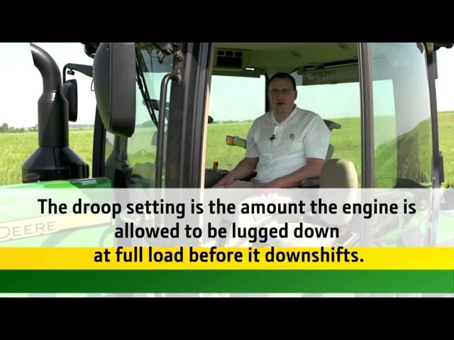 Operating the e23/e18 transmission, Part 4 - Understand Droop