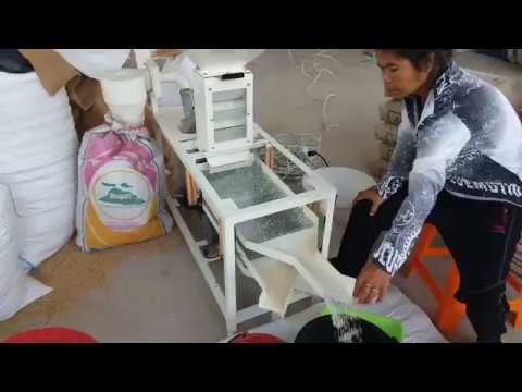 Using our rice cleaning machine