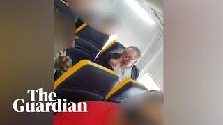 Racist incident filmed on Ryanair flight