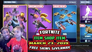 FORTNITE ITEM SHOP UPDATE MARCH 23, 2019 -NEW- BEASTMODE SET , WHIPLASH, CABBIE, MAULER, FREE SKINS