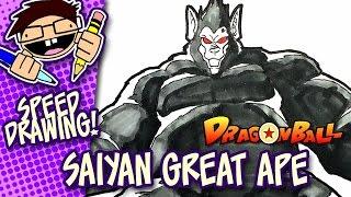 Speed Drawing: SAIYAN GREAT APE (DRAGON BALL)