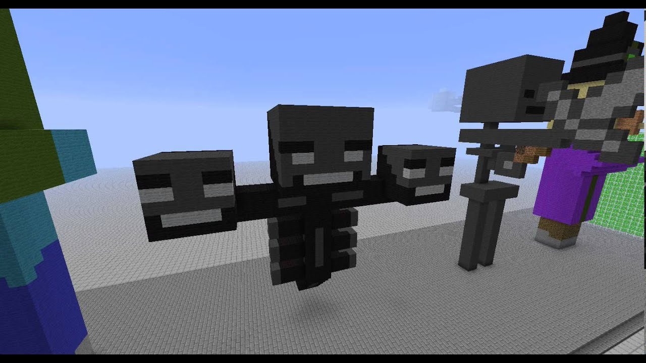 Minecraft Wither Skeleton Statue