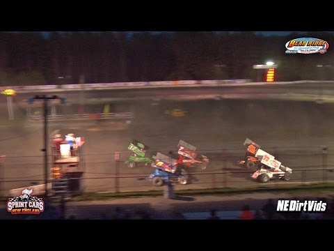 Highlights: Sprint Cars of New England | Bear Ridge Speedway July 25th, 2015