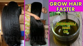 GROW HAIR FASTER WITH HOMEMADE BHRINGRAJ HAIR OIL || FAST HAIR GROWTH  || PRIYA MALIK