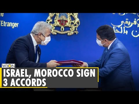 Foreign ministers of Morocco, Israel sign accords on political consultations, aviation, culture