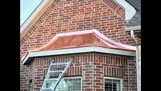 Fabricating copper standing seam panels for curved roof