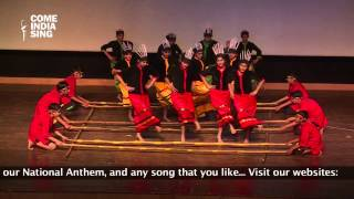 Dance Performance: Mizoram Folk Dance by students of Euro Intl School