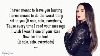 Solo - Clean Bandit Feat. Demi Lovato  Lyrics
