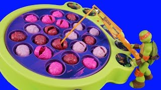 Teenage Mutant Ninja Turtles TMNT Fun To Learn Counting With Capture The Kraang Fishing Game Leo