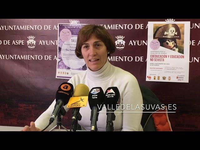 Rueda de prensa para presentar las III Jornadas del Valle de la Igualdad en #Aspe