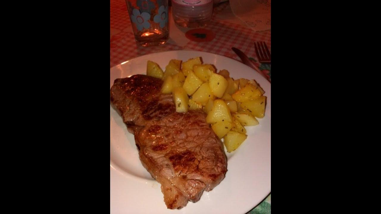 Tagliata di carne arrosto con patate al rosmarino home-made - YouTube