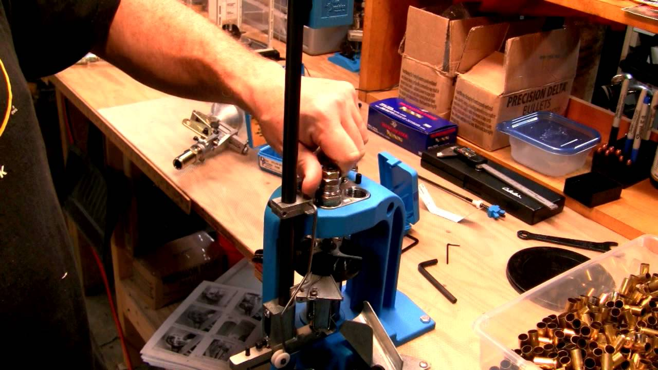 Reloading on a Dillon 550b: Sizing Die Installation