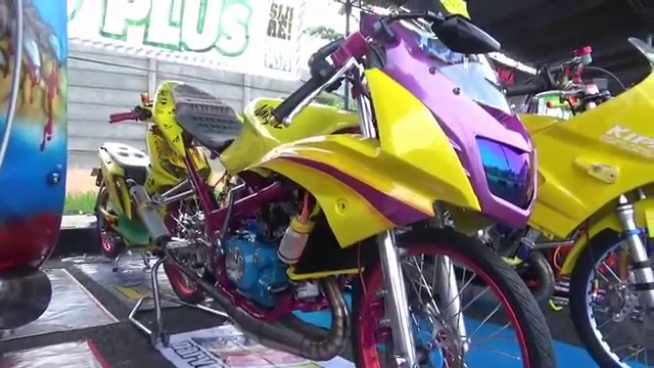 modifikasi ninja rr 150 (kuning) - youtube