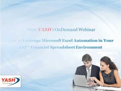 How to Leverage MS Excel Automation in Your SAP Financial Spreadsheet Environment