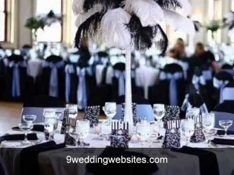 Black And White Wedding Decor Youtube