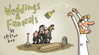 Weddings and Funerals | the BEST of Cartoon Box | Hilarious wedding cartoons and funeral cartoons