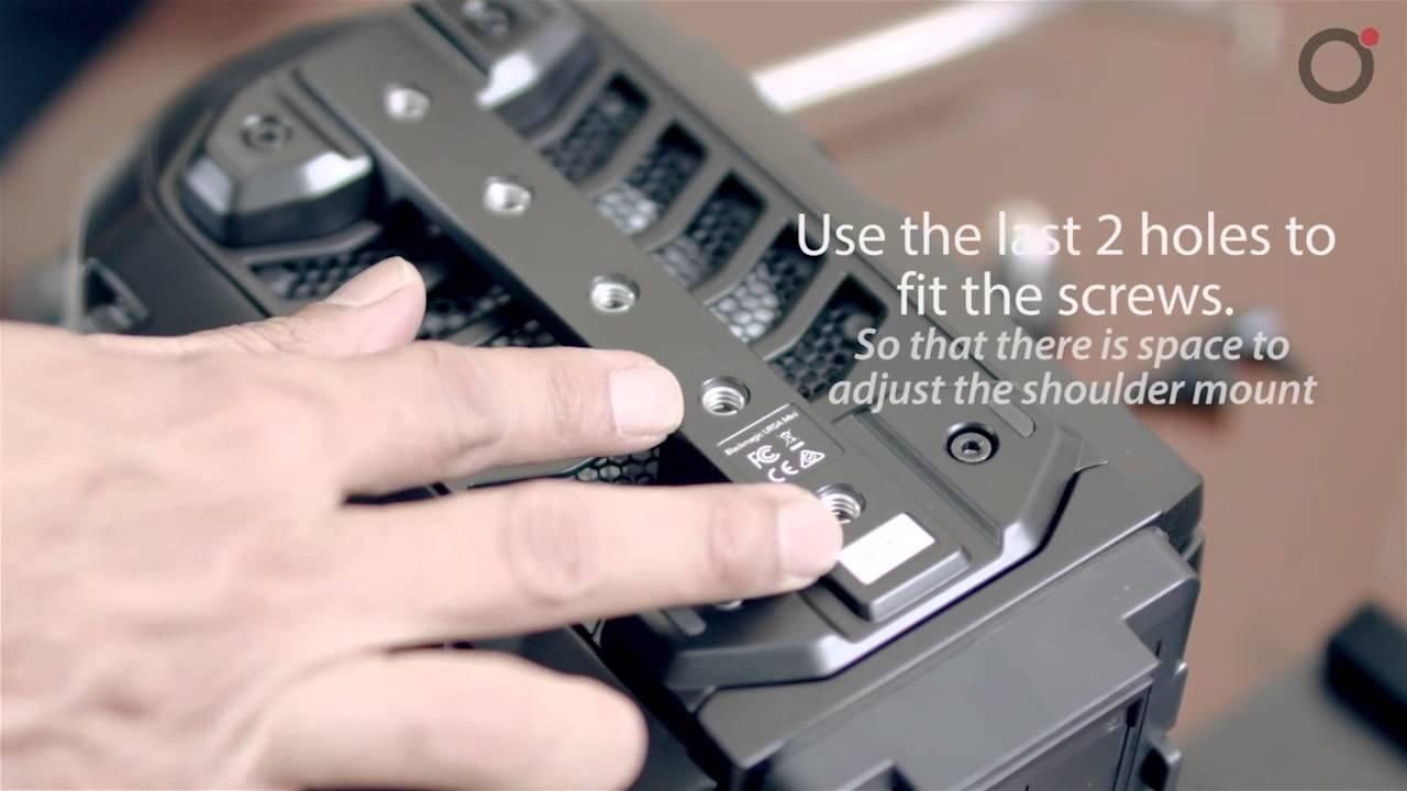 How To Fix The Ursa Mini Shoulder Kit Youtube